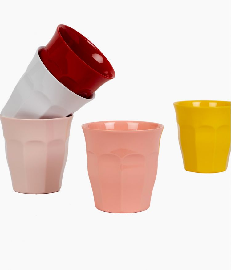 melamine cup pastel coral