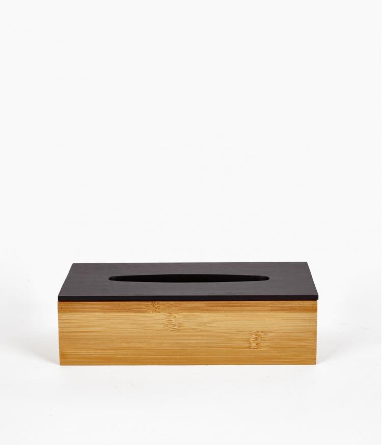 boite mouchoirs papier rect. noir bambou