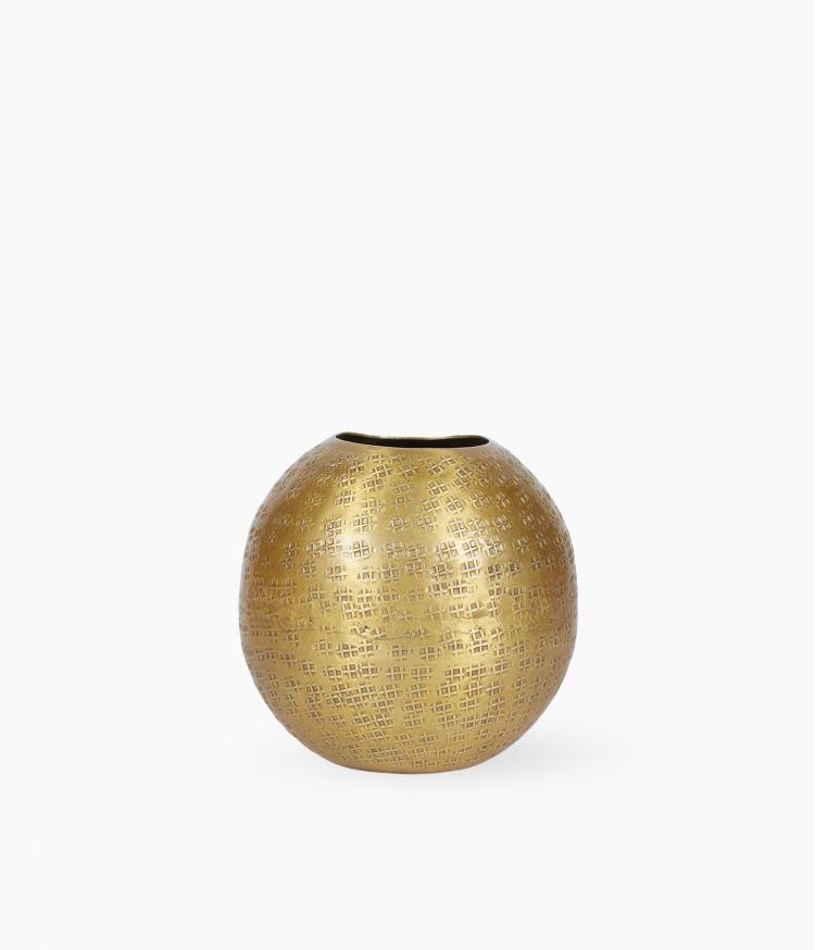 Mini Vase en Aluminium Doré