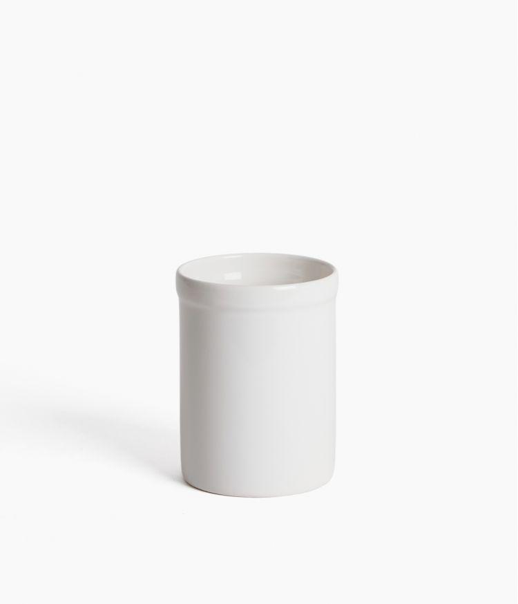 gobelet faience blanc