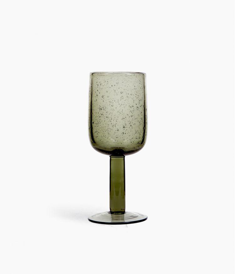 verre à vin 7*h18.5cm gris fumé