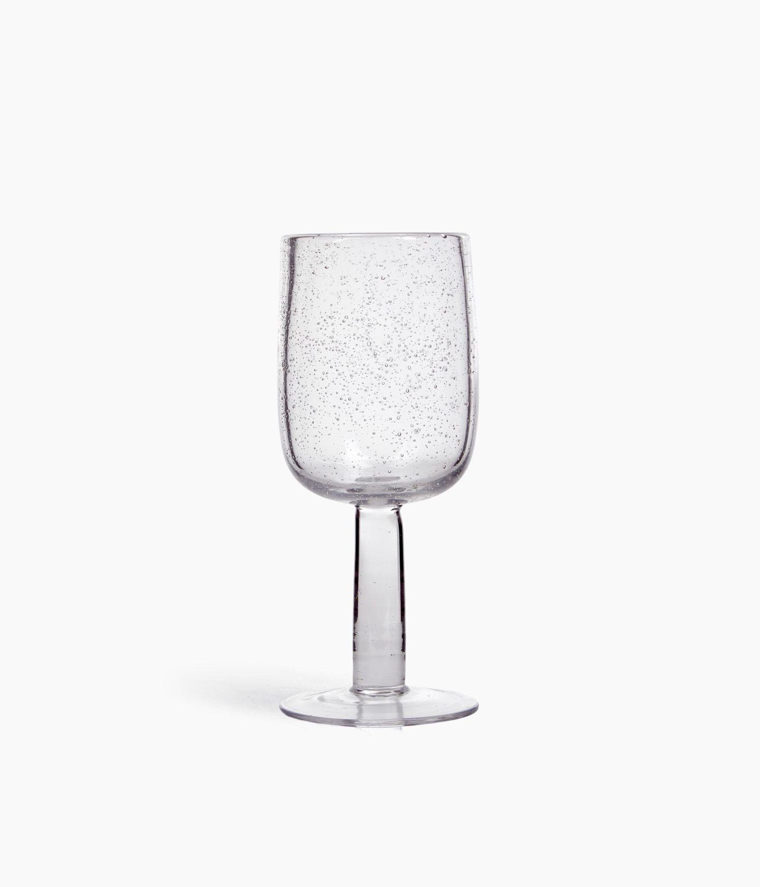 verre à vin 7*h18.5cm transparent