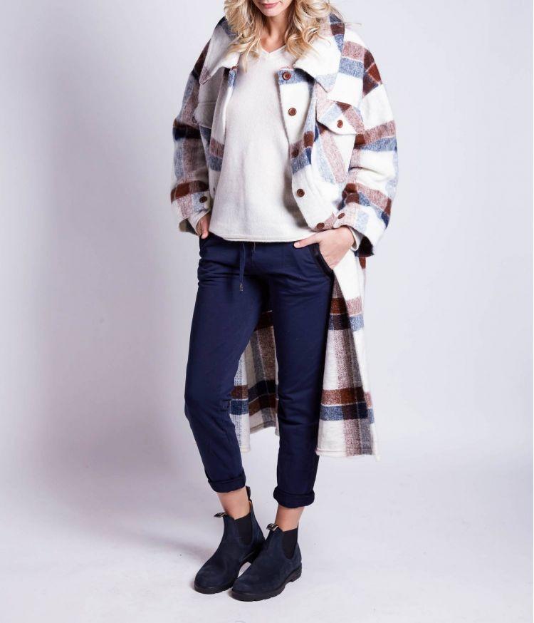 Manteau Bleu et Marron