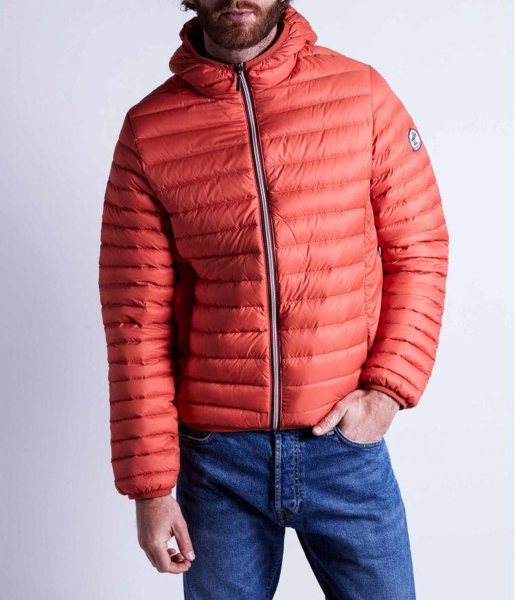 Doudoune manches longues détail zip avec capuche Orange