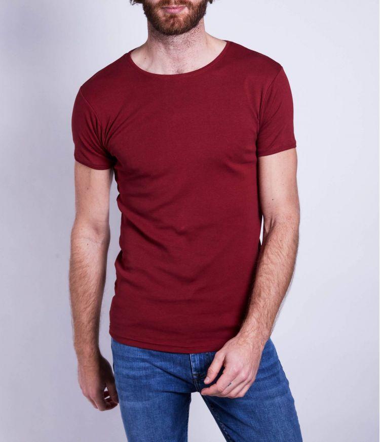 T-shirt uni Bordeaux