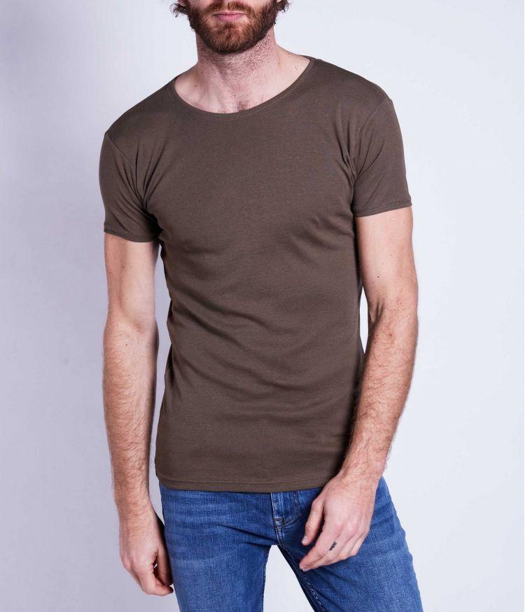 T-shirt uni Kaki