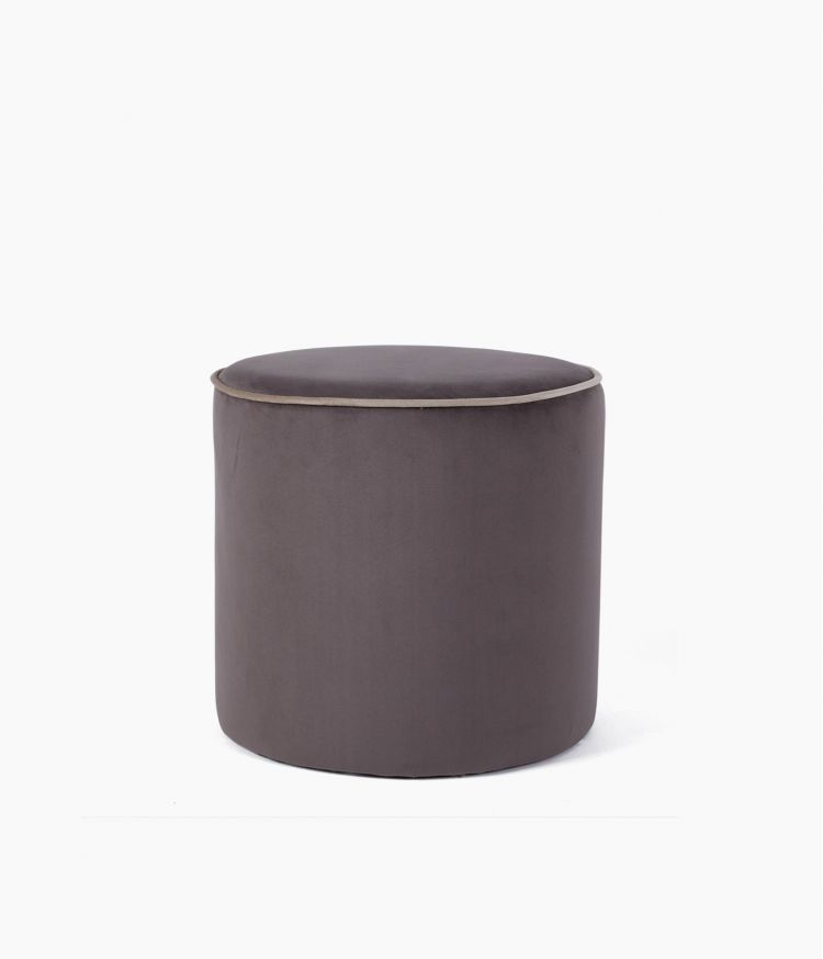 pouf countra marron/beige 40*40