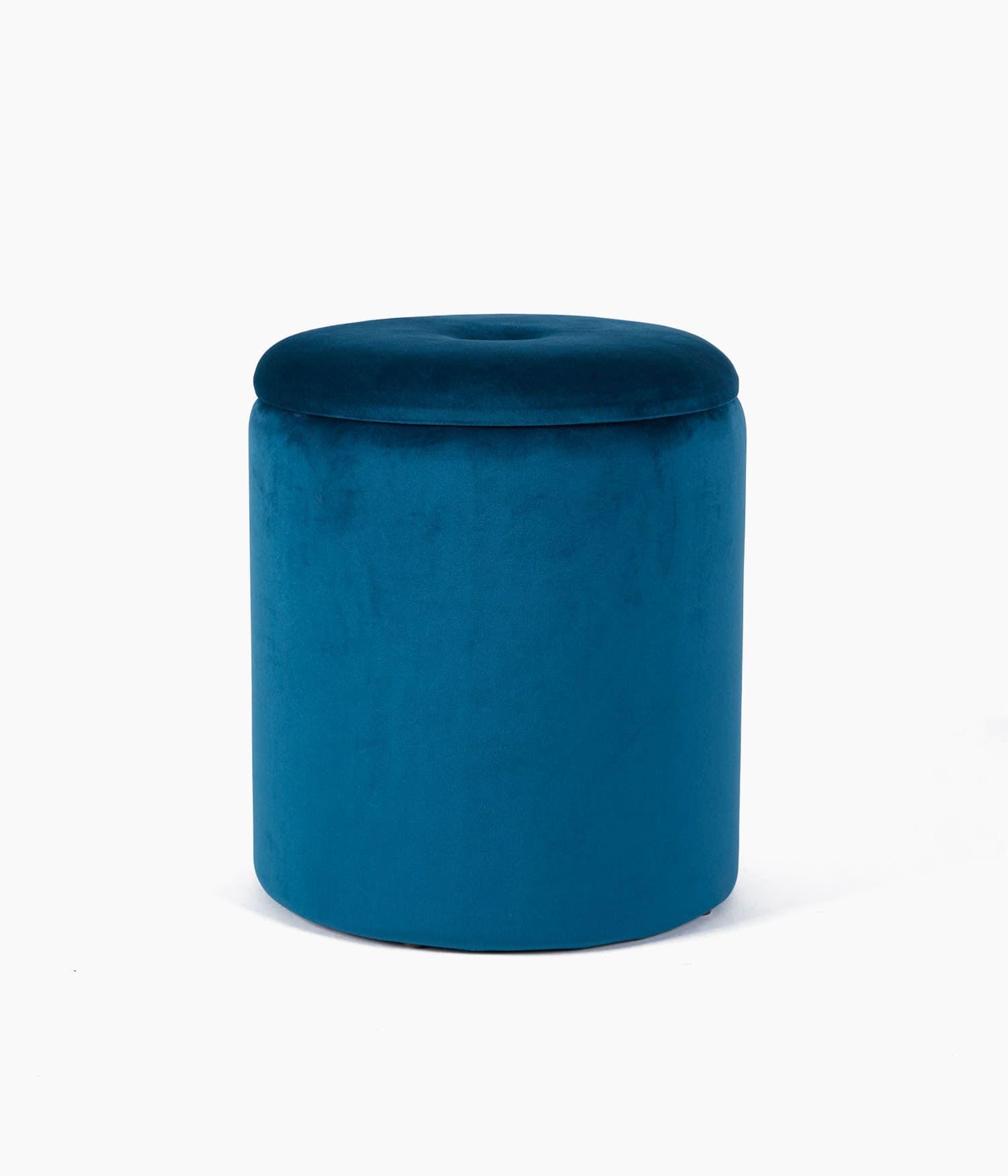 tabouret coffre gm35,5*45/pm31.5*38 bleu canard