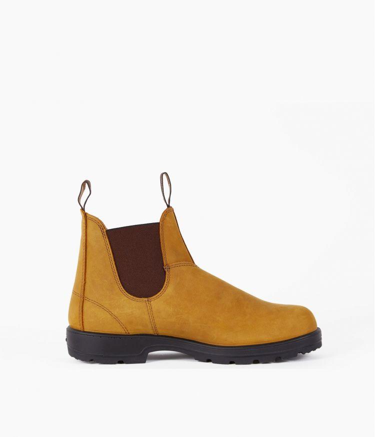 Boots élastiquées nubuck Ocre