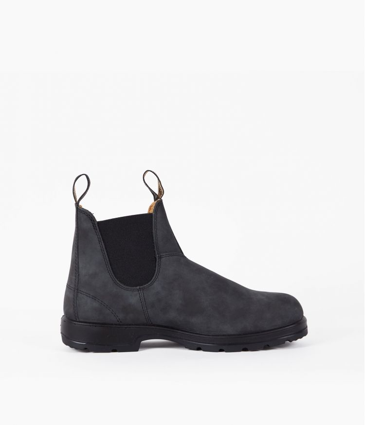 Boots élastiquées nubuck Noir vieilli
