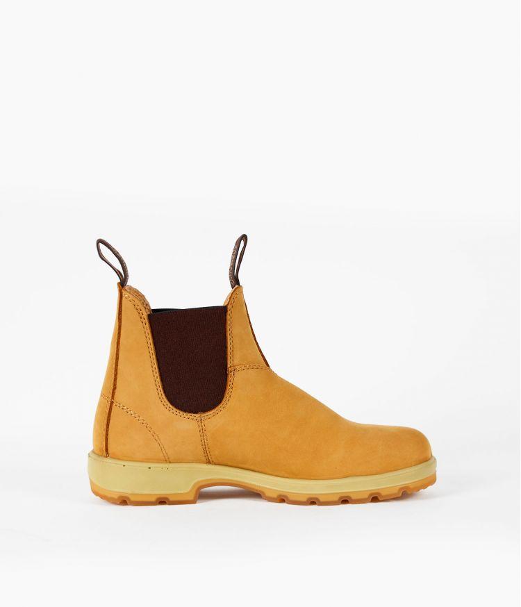 Boots nubuck elastiquée Beige