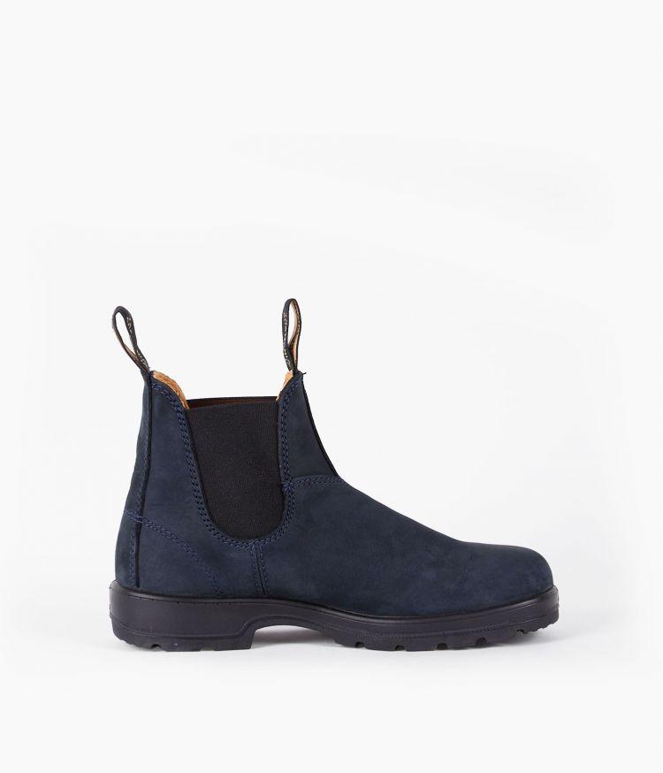 Boots nubuck elastiquée Marine