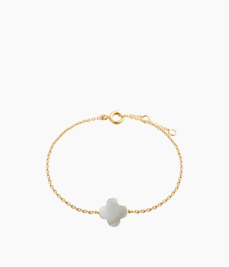 bracelet trefle nacre