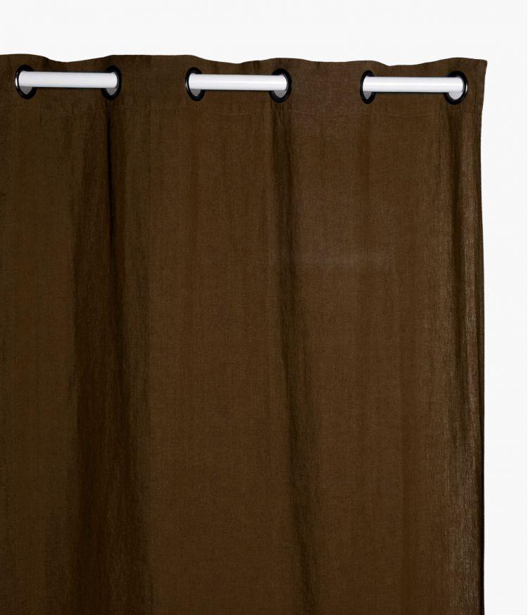 Rideaux 140 x 280 cm  en lin lavé - Brownie