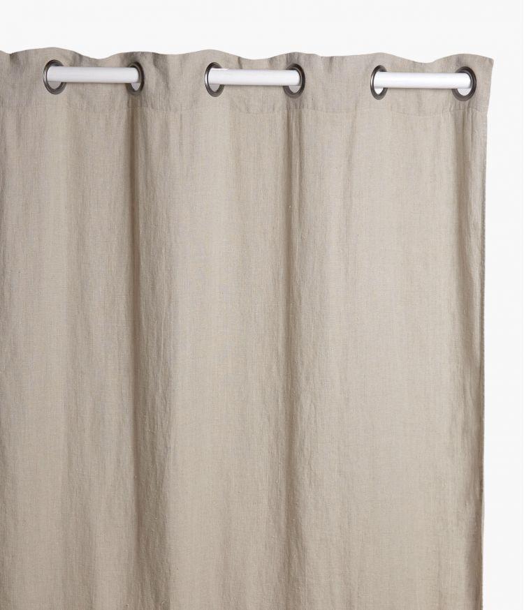 Rideaux 120 x 280 cm en lin lavé - Naturel