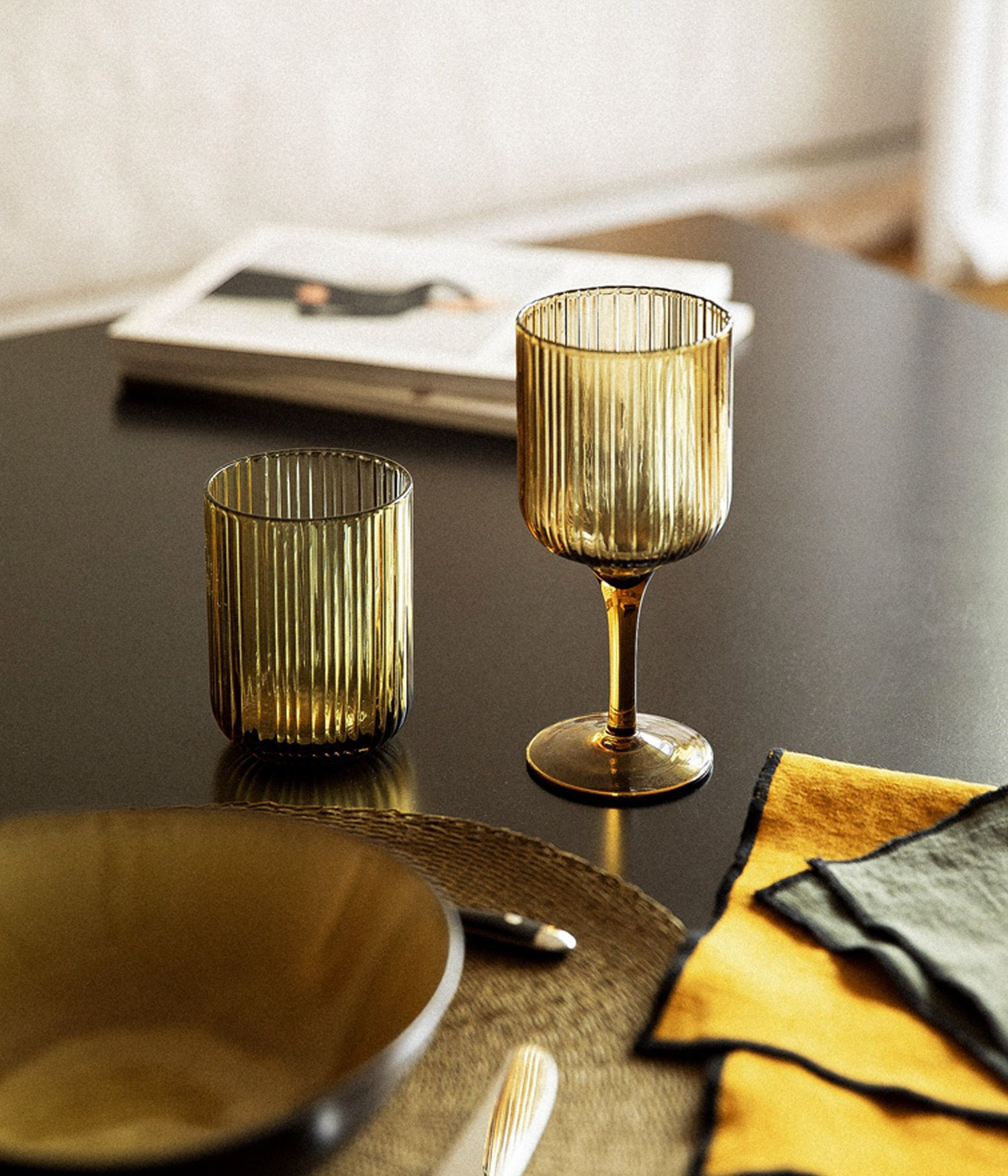 Gobelet en verre Ambre