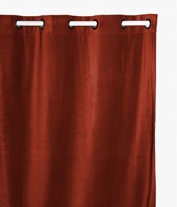 Rideaux 135 x 300 en velours - Argile