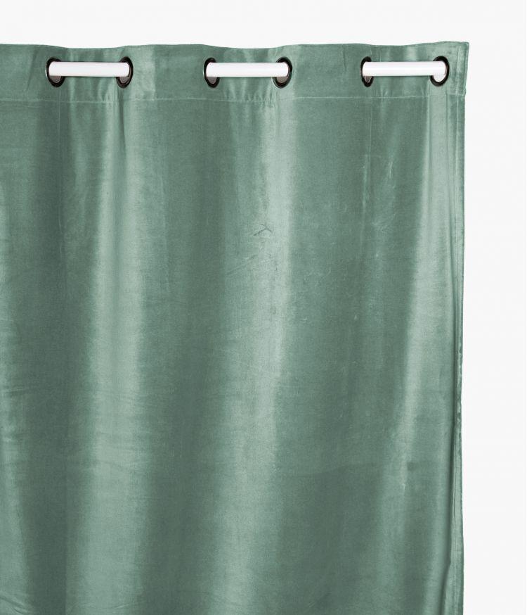 Rideaux 135 x 300 en velours - Celadon