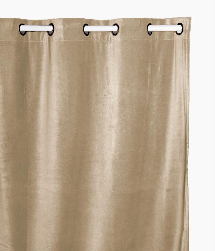 Rideaux 135 x 300 en velours - Craie