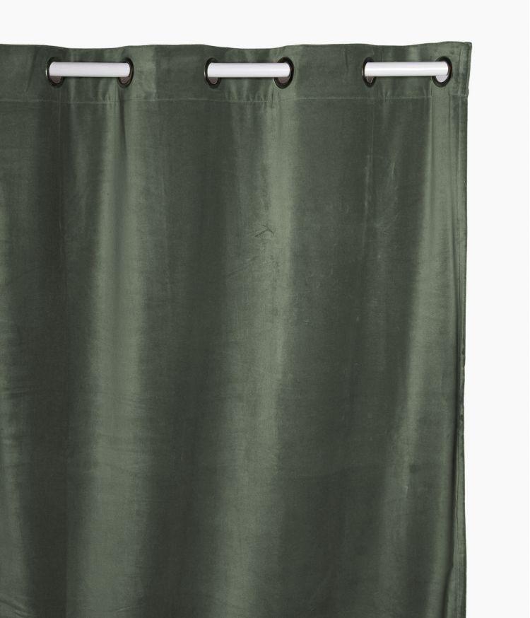 Rideaux 135 x 300 en velours - Kaki