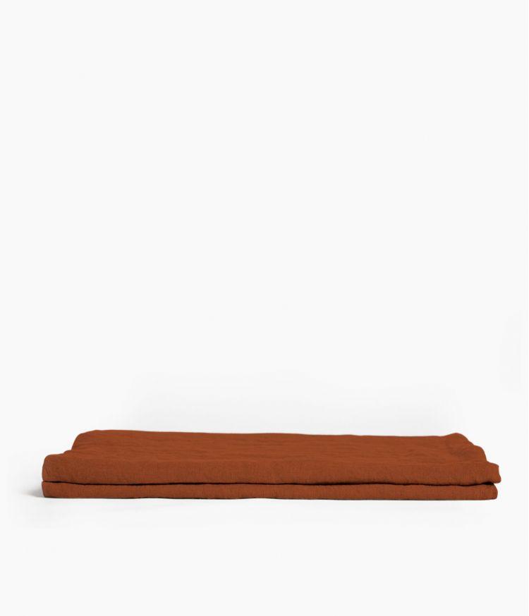 Nappe carrée 170 x 170 cm en Lin lavé - Argile