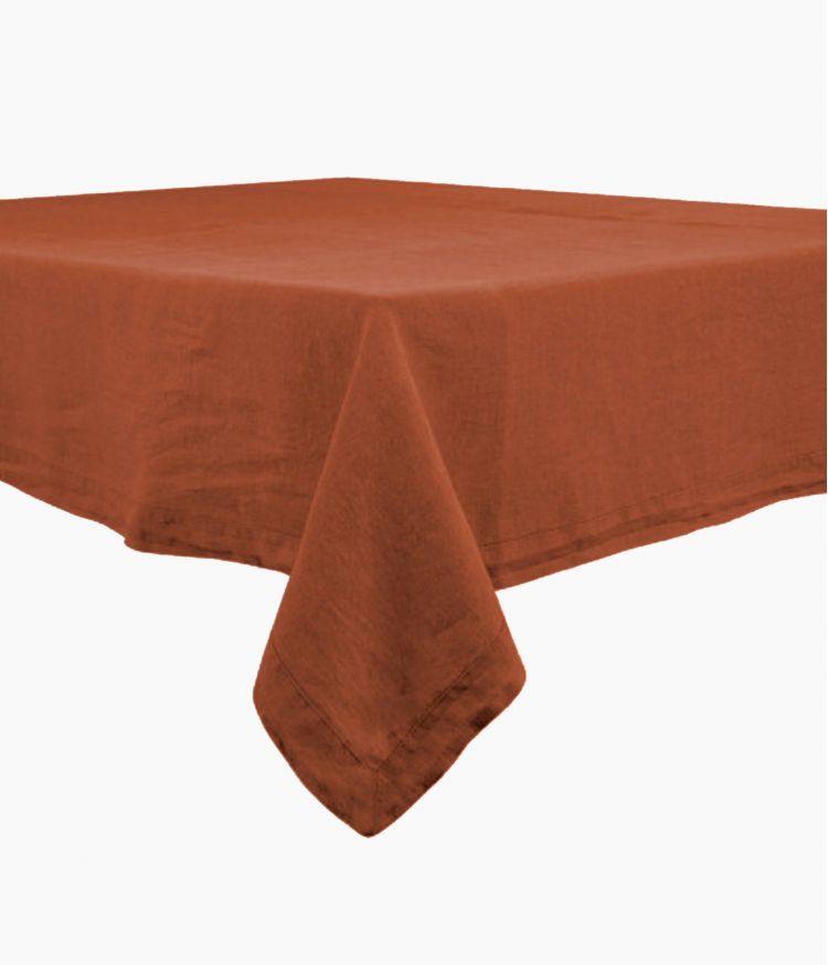 Nappe rectangle 170 x 250 cm en Lin lavé - Argile