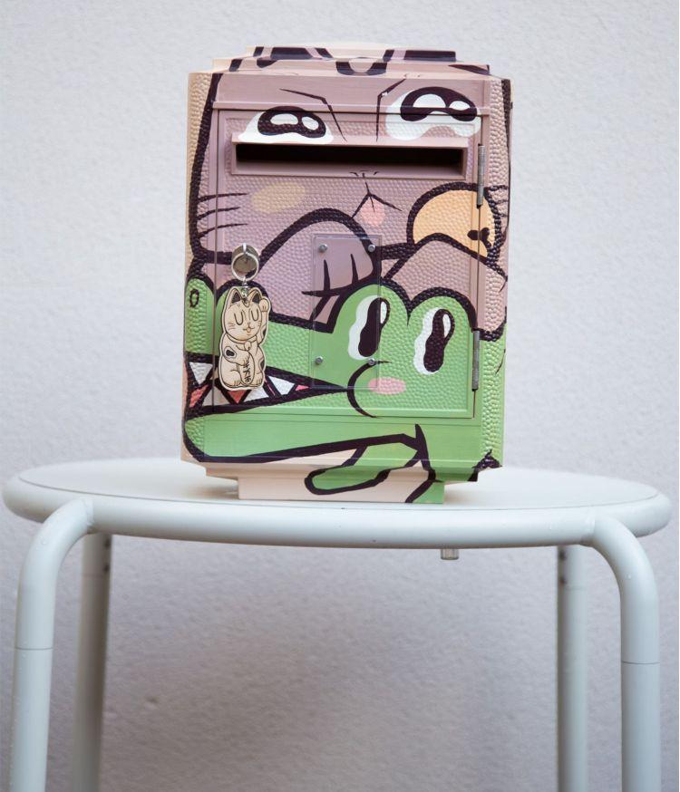 boîte aux lettres lucky maneki bubble croco