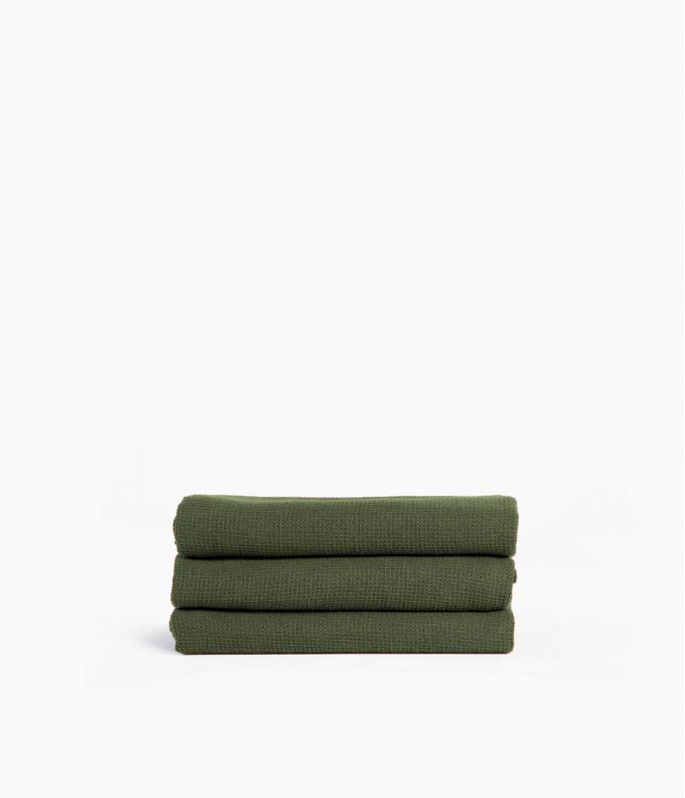 Serviette d'invité 30 x 50 cm en Coton - Kaki
