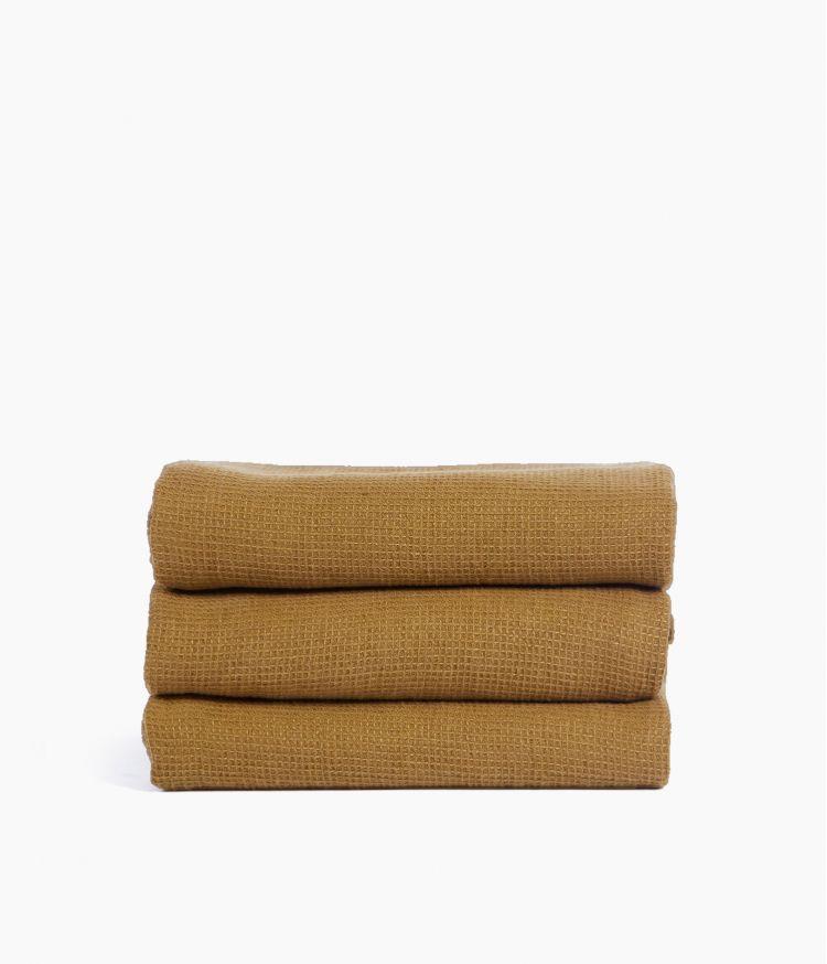 Serviette de bain 50 x 100 cm en Coton - Tabac