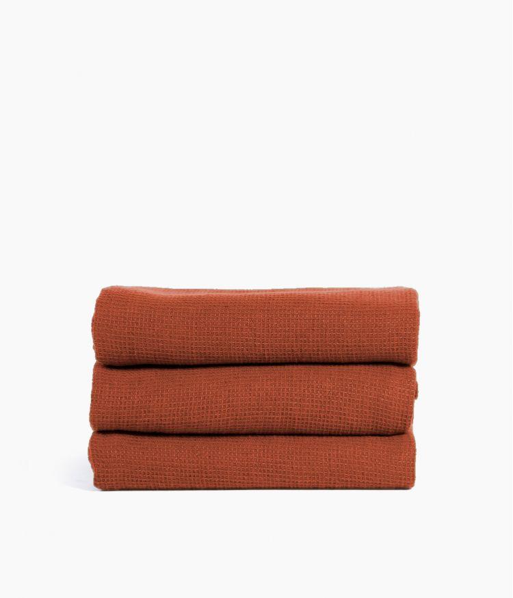 Serviette de bain 50 x 100 cm en Coton - Brick