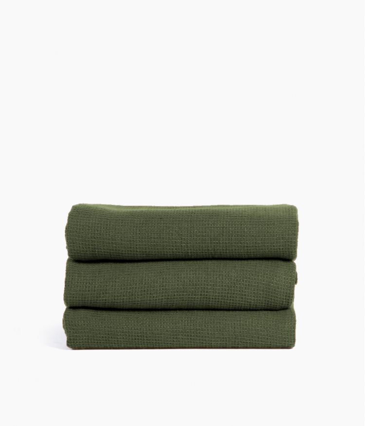 Serviette de bain 50 x 100 cm en Coton - Kaki