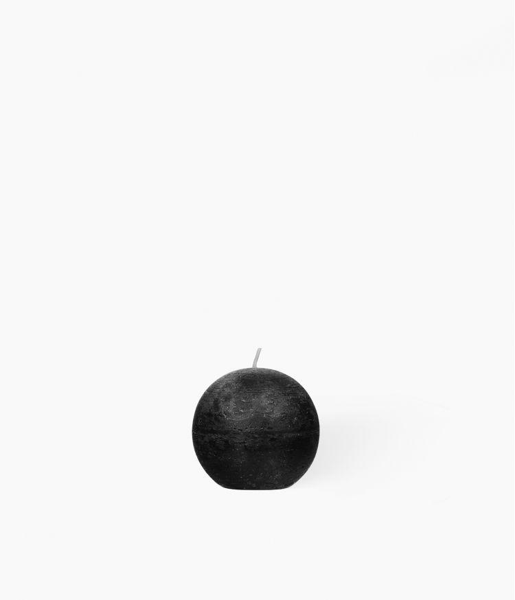 bougie boule noire