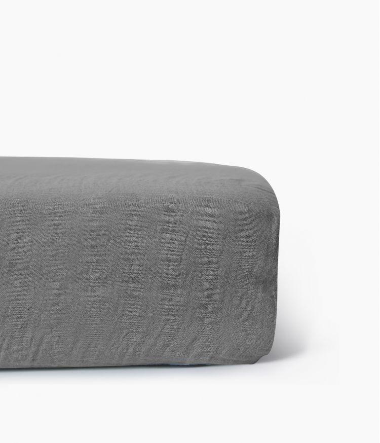 drap housse 160*200 beton