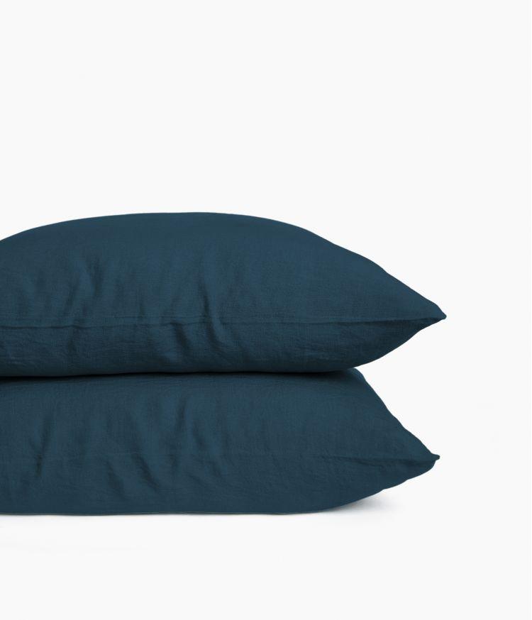 taie oreiller 65*65 bleu de prusse