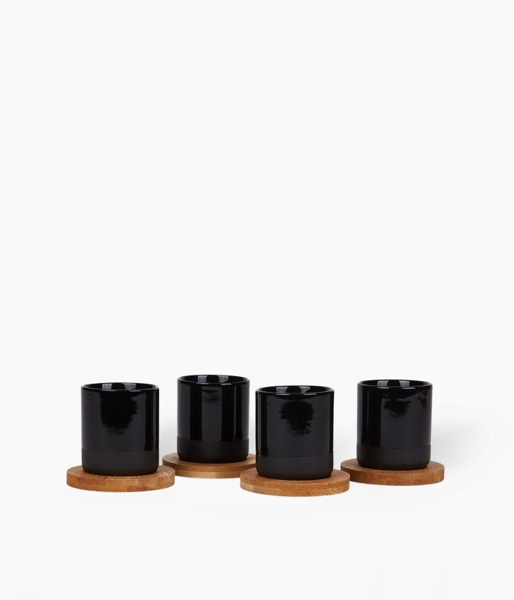 Coffret de 4 gobelets Noir