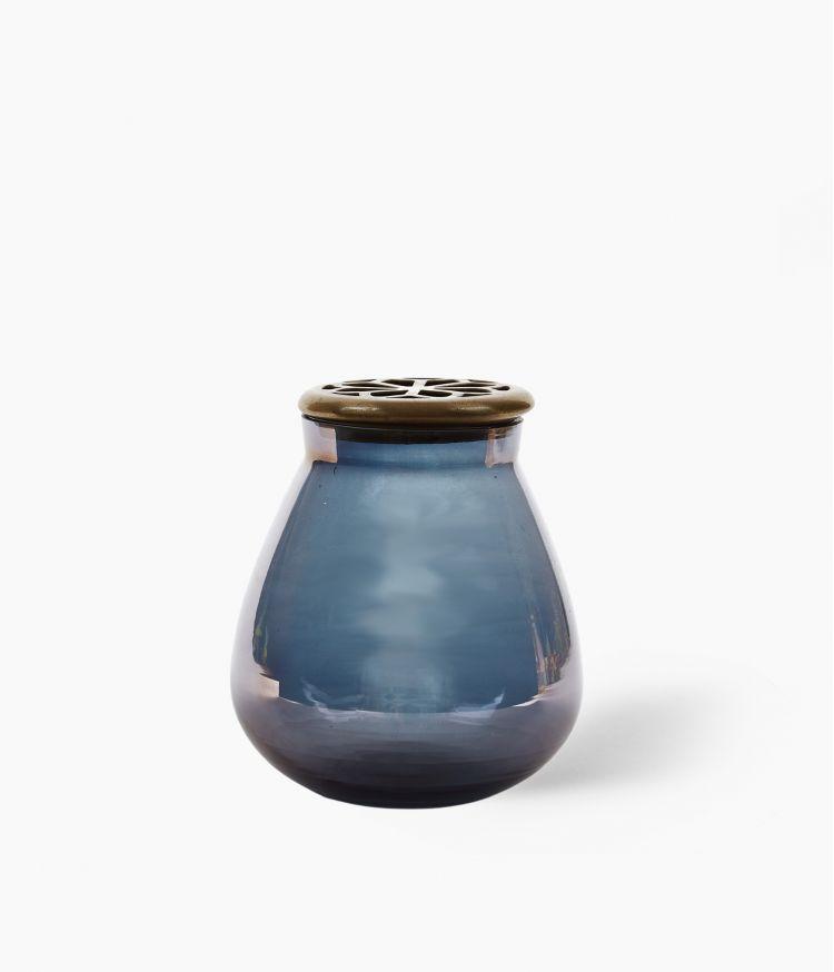 Vase Poire Bleu