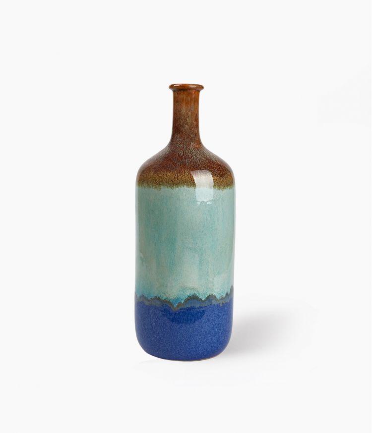 Grand Vase Fuji Bleu