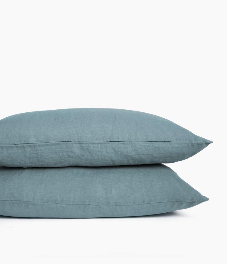 taie oreiller 50*70 bleu stone