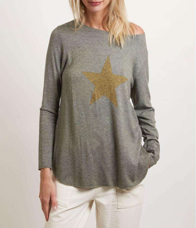 pull étoile doré