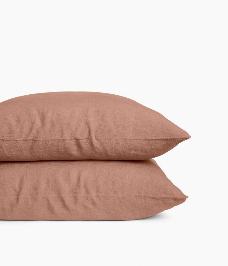 Taie d'oreiller 65 x 65 cm en Lin lavé - Cimarron