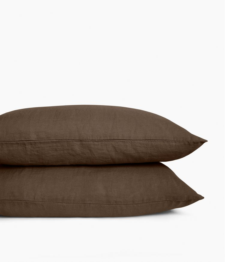 Taie d'oreiller 50 x 70 cm en Lin lavé - Brownie