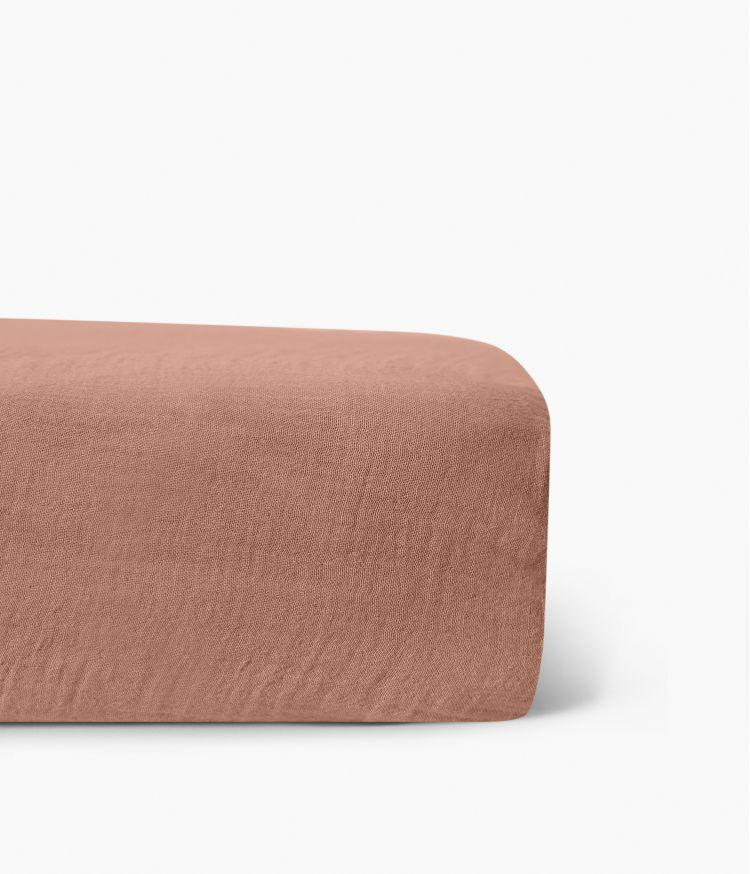 Drap housse 160 x 200 cm en Lin lavé - Cimarron