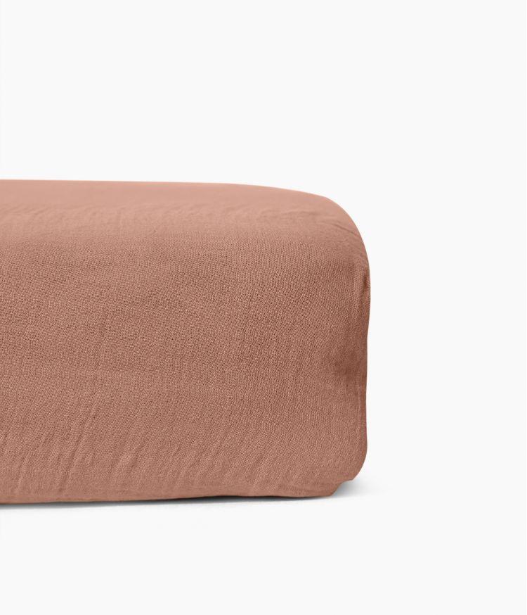 Drap housse 160 x 200 cm en Voile de coton - Cimarron