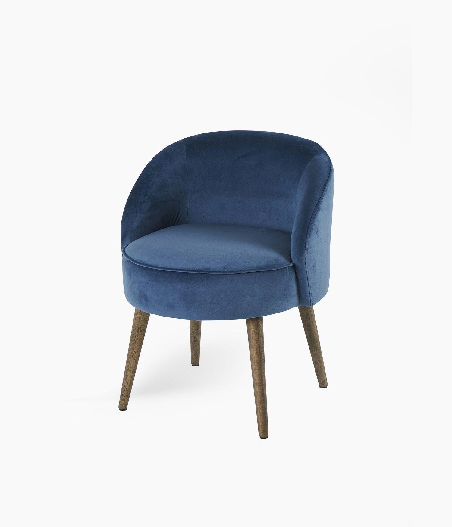 fauteuil honoré bleu nuit