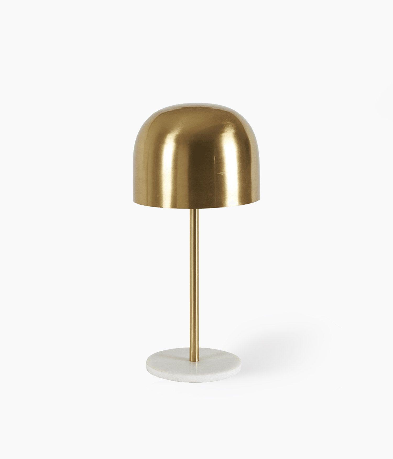 lampe champignon s/pied dorée 21*21*46cm