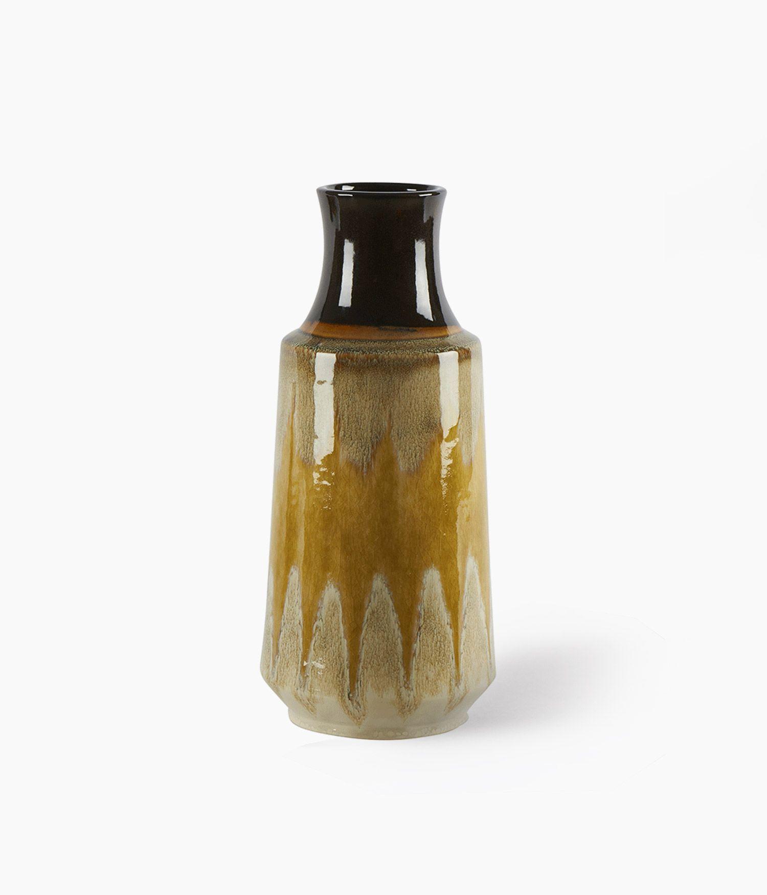vase lava moutarde 17*17*h39cm