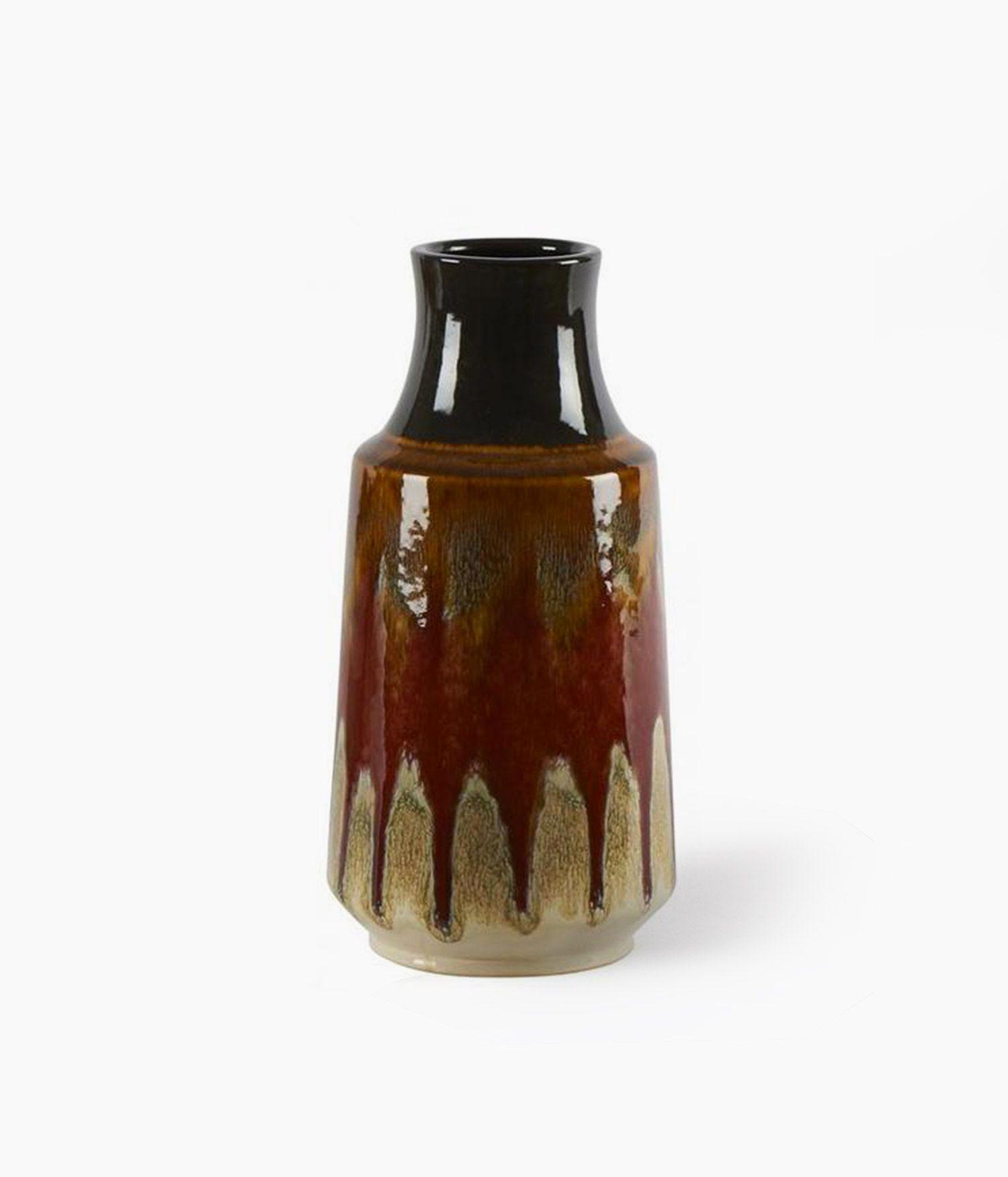 vase lava orange 15*15*h31.5cm