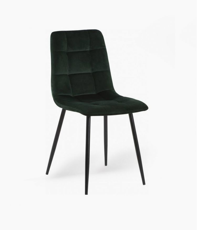chaise manta velours vert empire 50*45*89