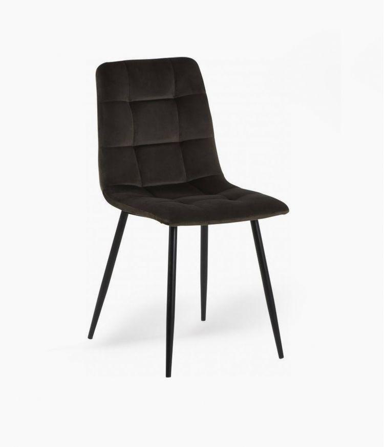 chaise manta velours noire h89cm