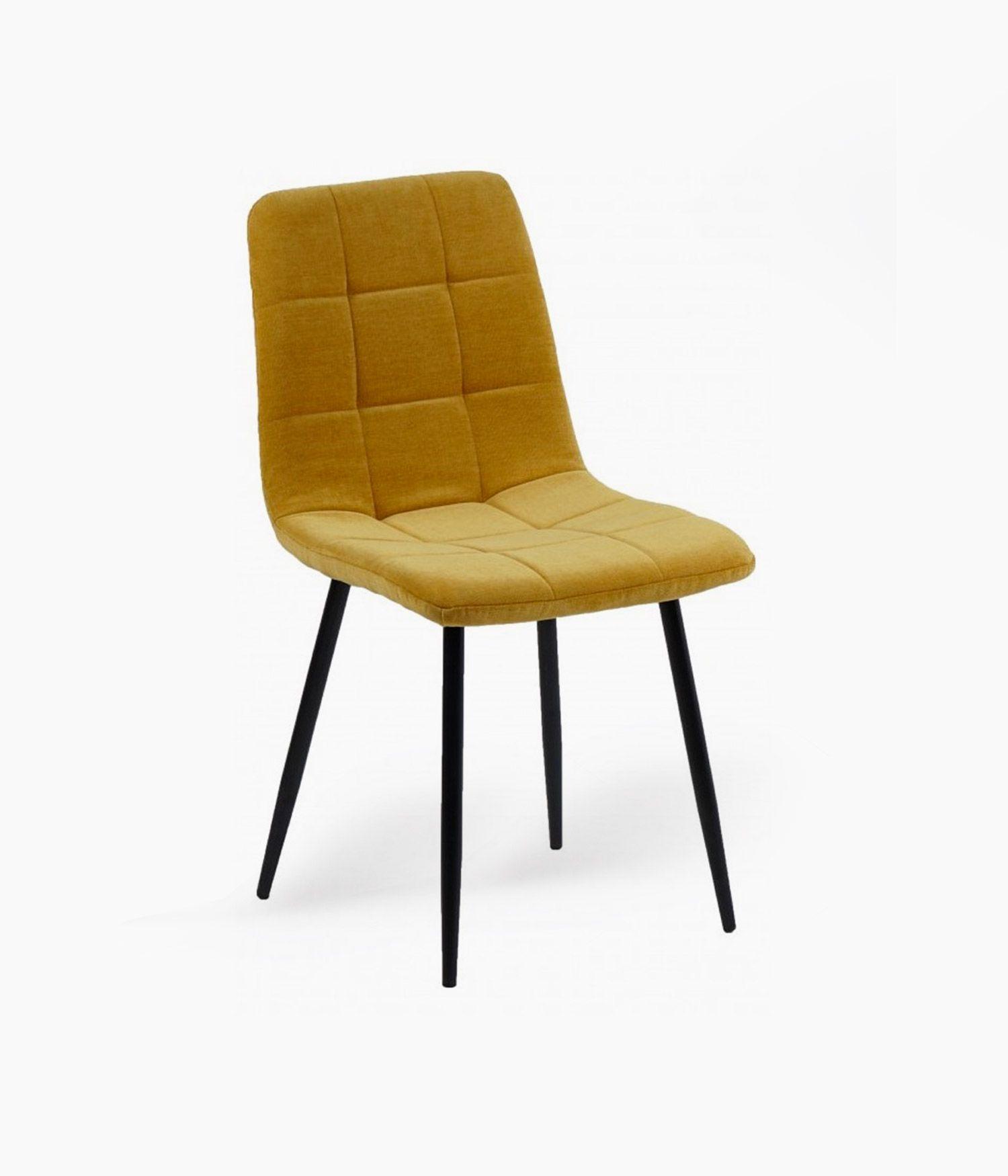 chaise manta tissu moutarde h89cm